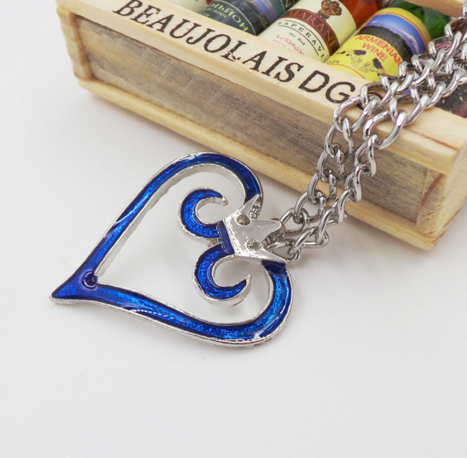 Kingdom Hearts - Blue Heart Necklace