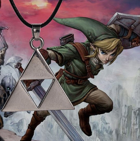 Legend of Zelda Silver Triforce Necklace