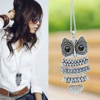 VINTAGE STYLE OWL CHAIN NECKLACE