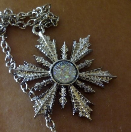 Frozen Snowflake Elsa Pendant Necklace