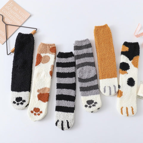 Winter Cat Claws Cute Warm Socks - 50% OFF