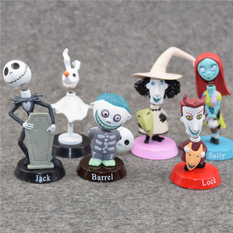 Jack Sally Car Head Shaking Dolls 6 pcs Set