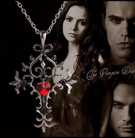 The Vampire Diaries Gothic Red Cross Necklace - 60% OFF + FREE SHIPPING