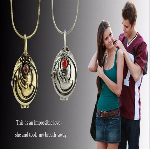 The Vampire Diaries Elena Vervain lover's necklace