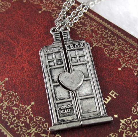 Doctor Who Couple Necklaces