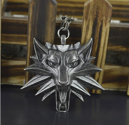 Witcher 3 medallion pendant necklace