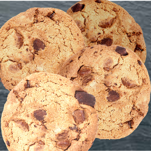 Amazing GF Vegan Choc-Chip Large Cookies (1 Dozen)