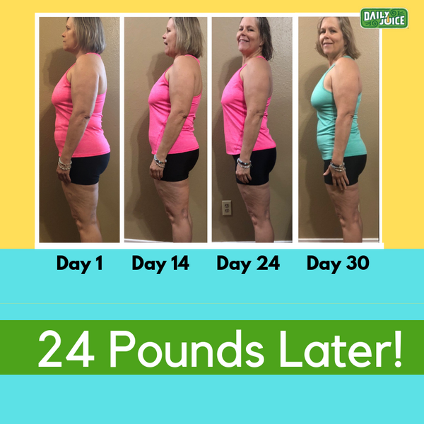 juice diet before and after 30 days