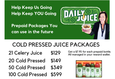 PREPAID COLD PRESSED JUICES - Support Daily Juice!