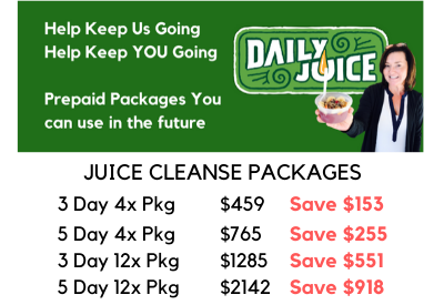 PREPAID JUICE CLEANSES - Support Daily Juice!
