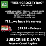 "FRESH GROCERY BAG ""FARM BOX"" - DELIVERED"
