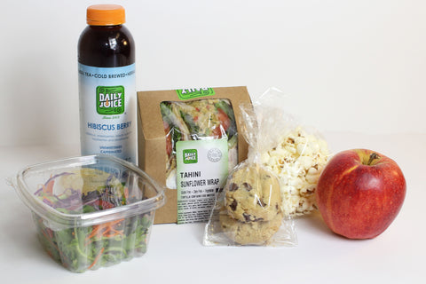 Wrap & Seasonal Salad Lunch Box