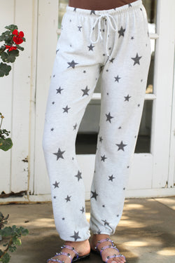 Loungy Star Sweatpant Light Heather