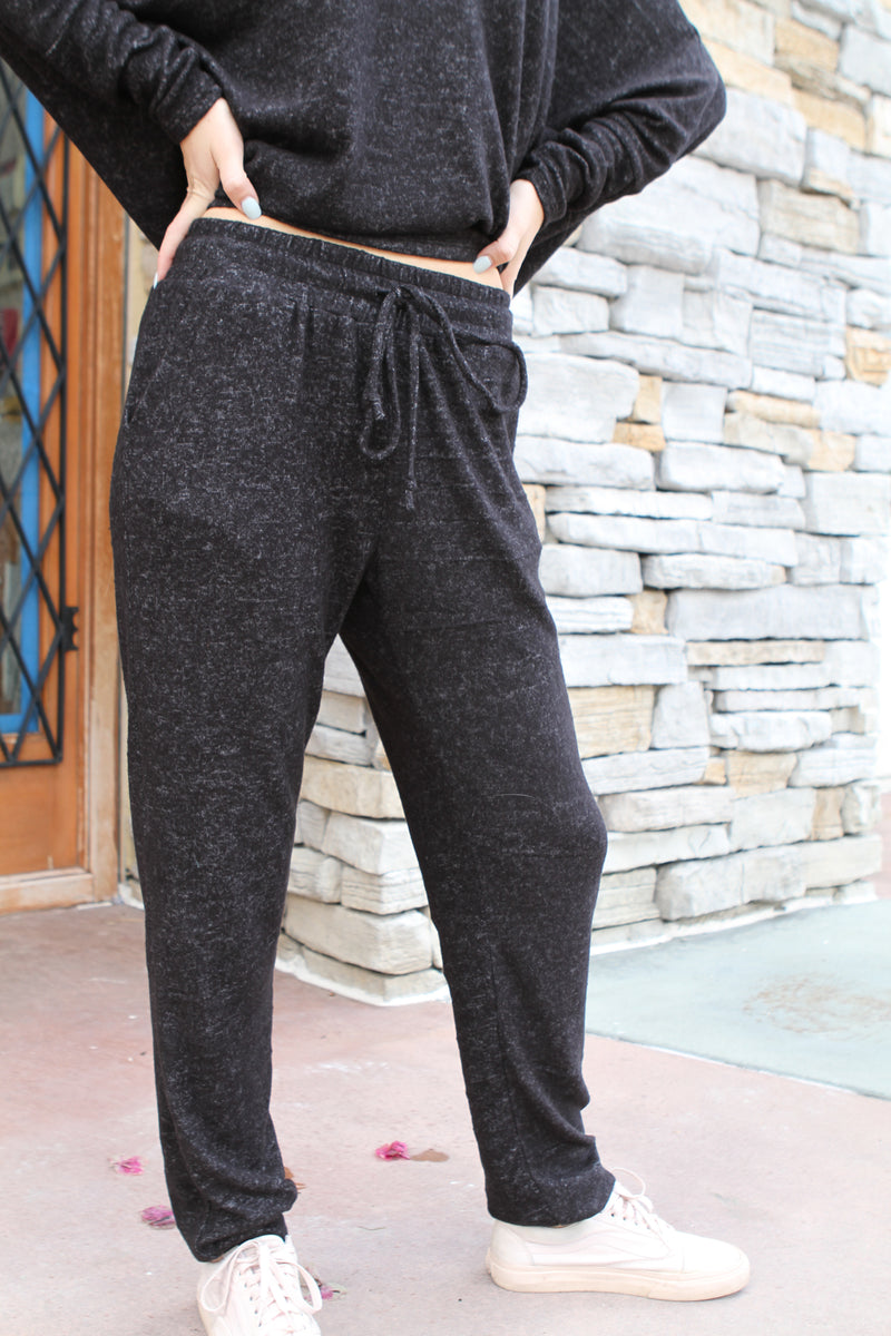 Two Pocket Sweatpant black marble - Stevie Sister