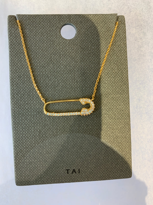 Tai jewelry, Safety pin necklace, Mother's day