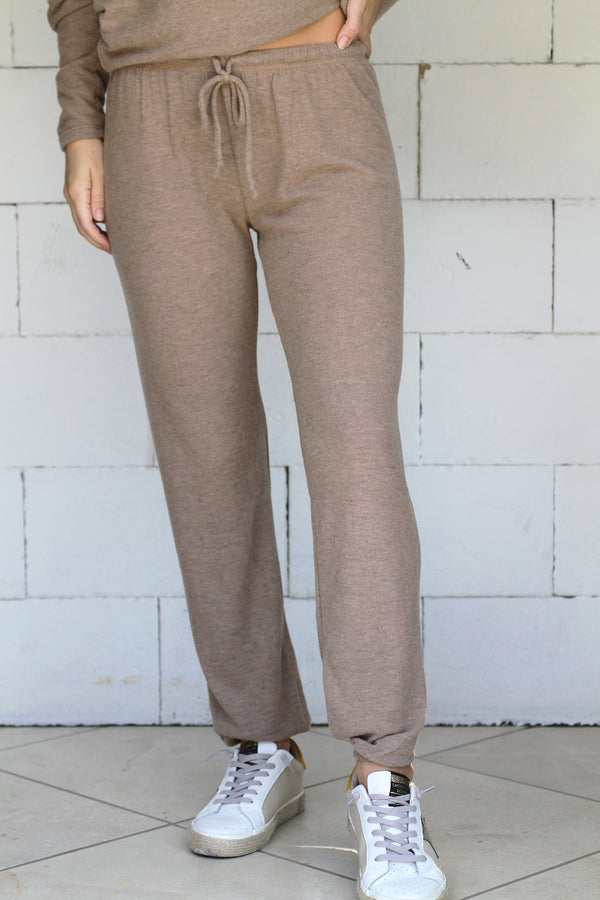 Loungy Sweatpant camel heather