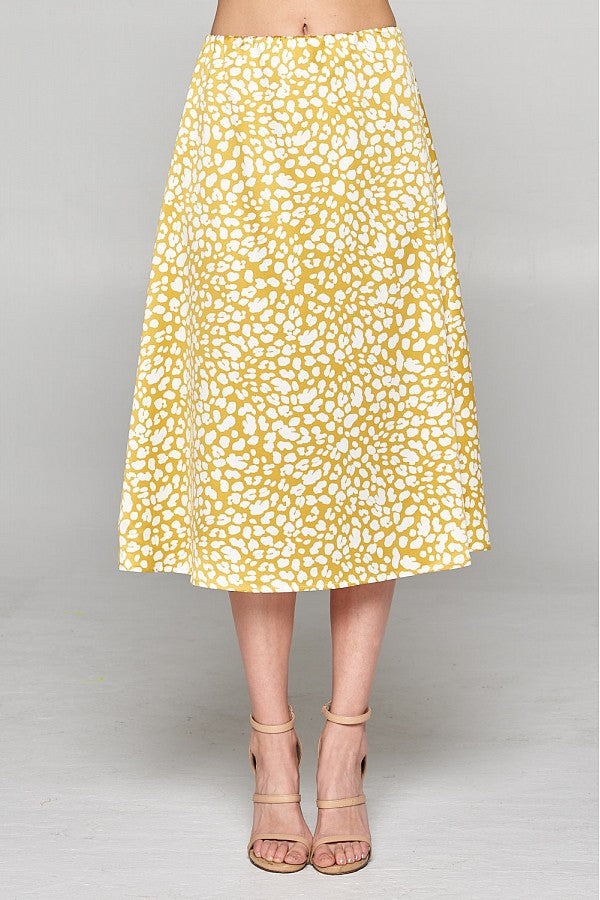 Yellow Leopard Midi Skirt - Stevie Sister
