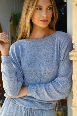 Banded Waist Crew Neck