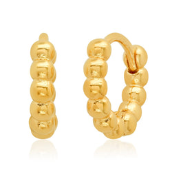 Small Gold Ball Huggie Earrings