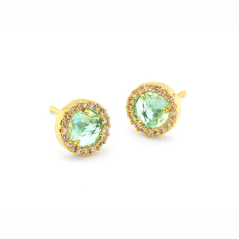 Small Pave Glass Earrings - Stevie Sister