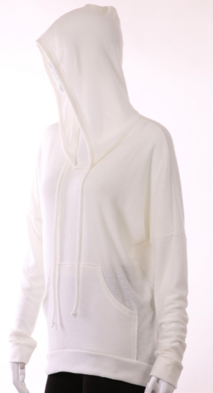 White Cashmere Hoodie - Stevie Sister
