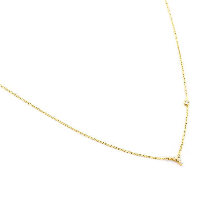 CZ Initial Necklace - Stevie Sister
