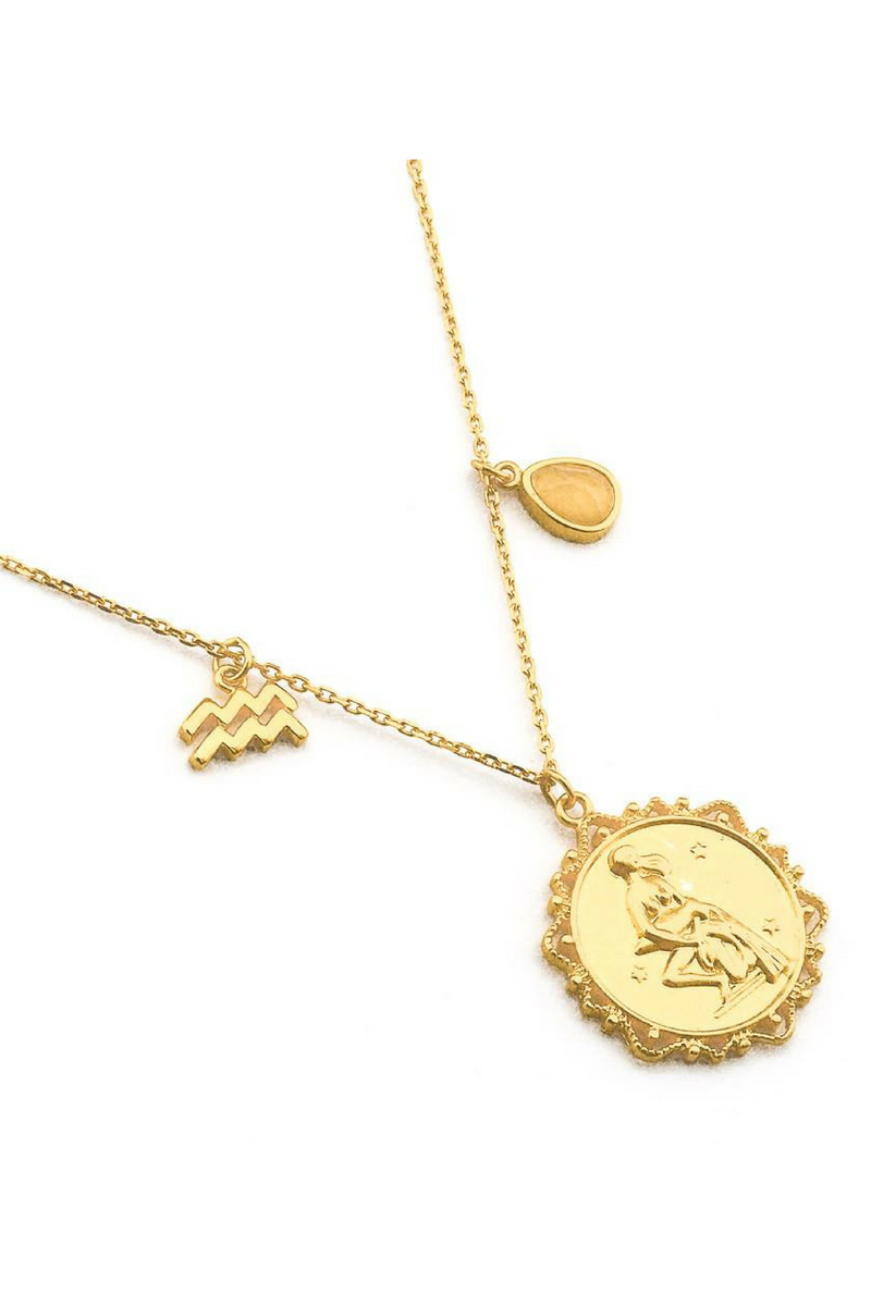 Zodiac Coin Necklace - Stevie Sister
