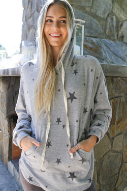 Drawstring Hoodie Dark Heather - Stevie Sister