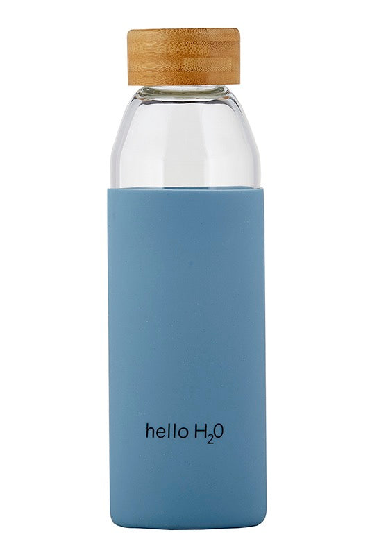 Water Bottle w/Bamboo Lid Hello H2O - Stevie Sister