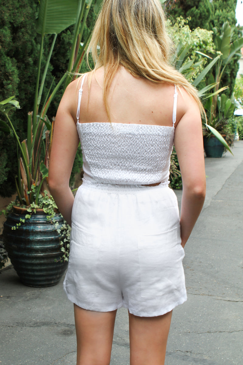 White Linen Short - Stevie Sister