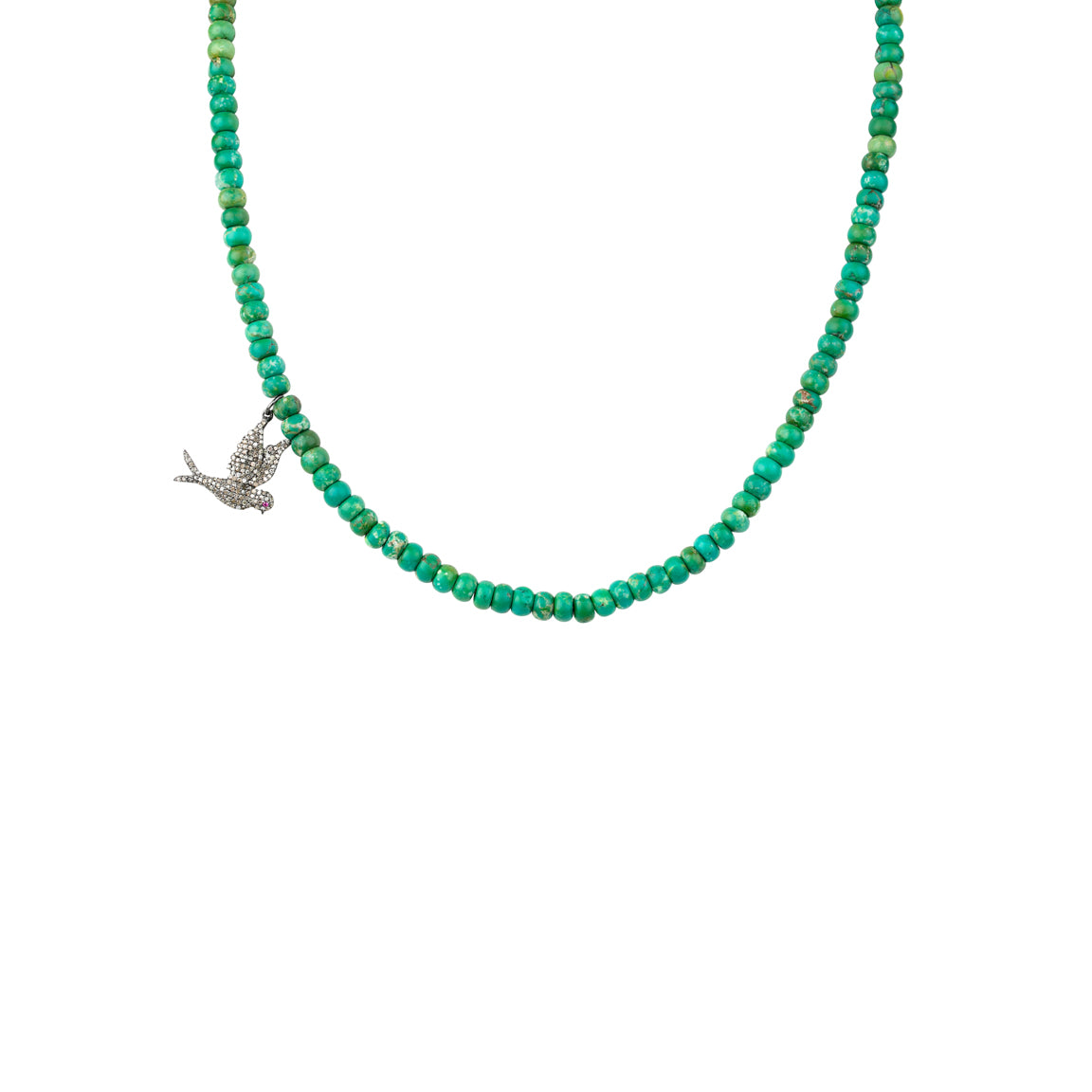 Turquoise Beads Diamond Bird