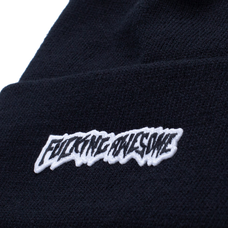 Fucking Awesome Little Stamp Cuff Beanie - Black