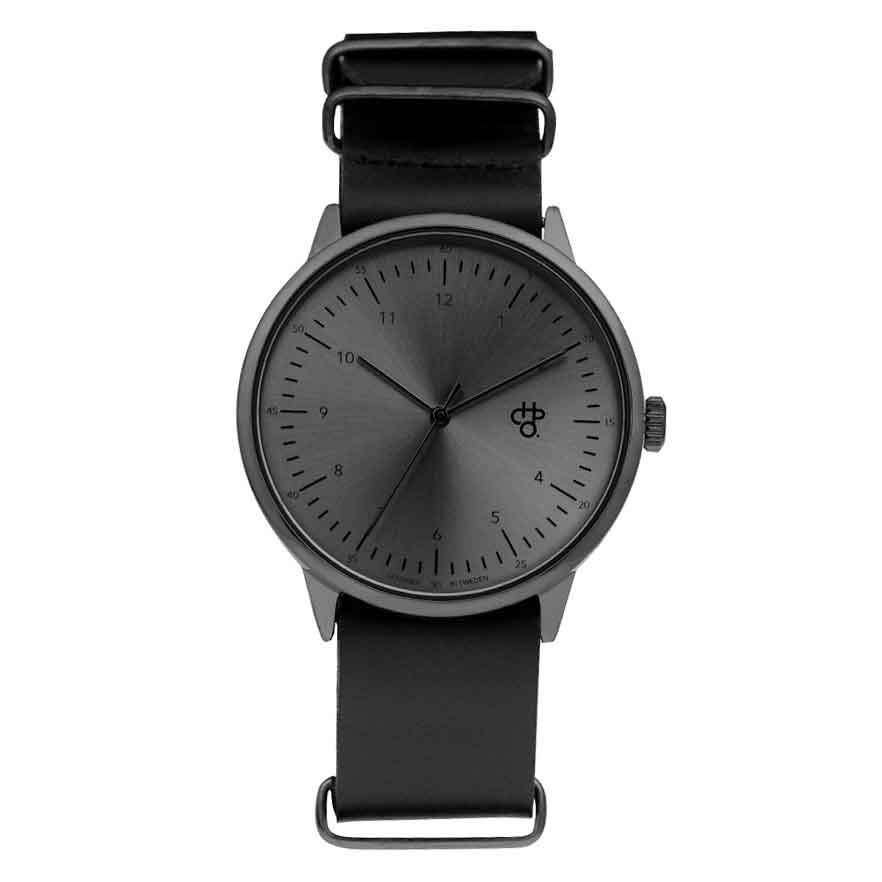 CHPO Harold Metal Watch - Black Dial/Black Metal Strap - Pretend Supply Co