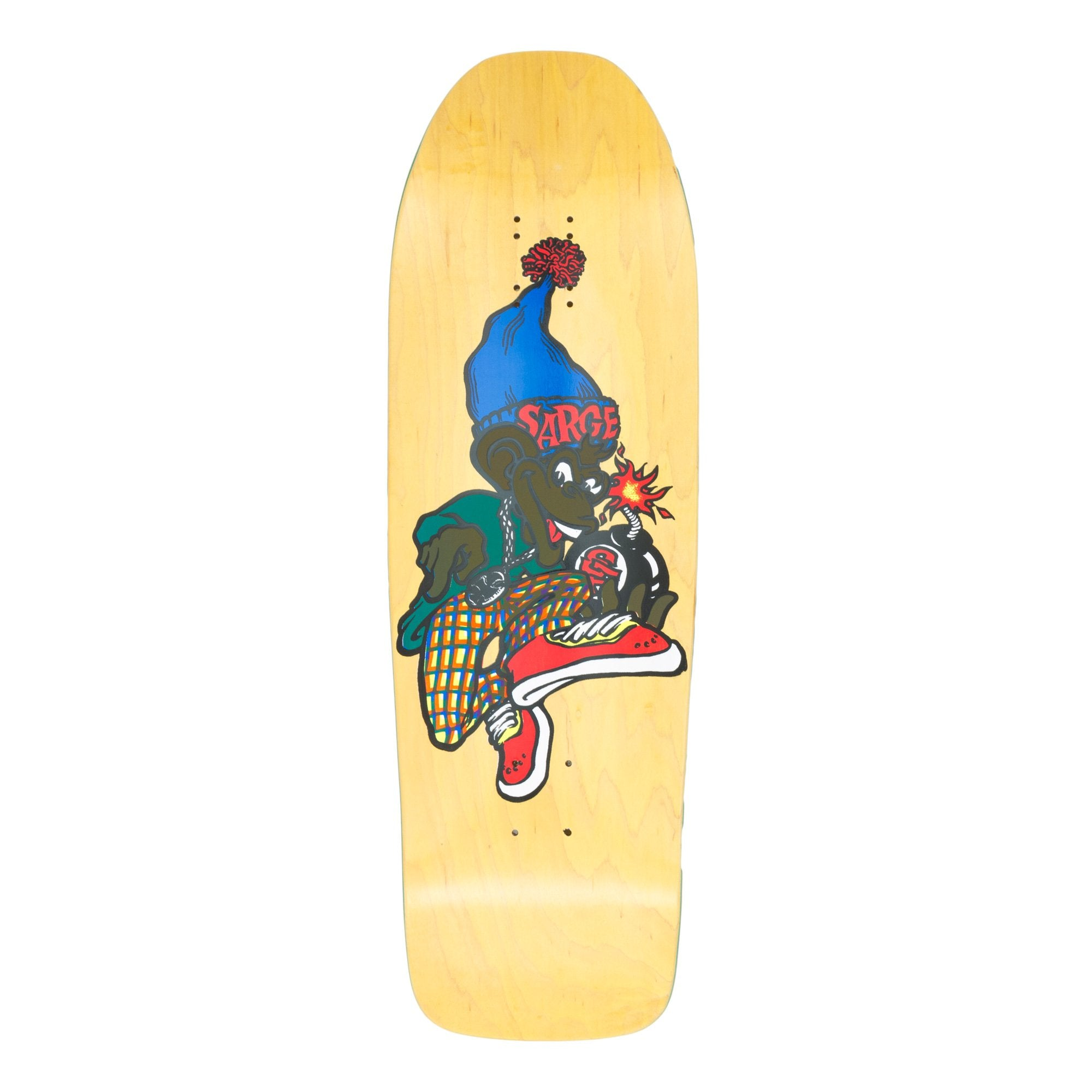 New Deal Sargent Monkey Bomber Screenprinted Deck - 9.625""