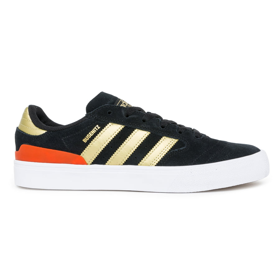 Adidas Busenitz II Vulc Shoes - Core Black/Gold Metallic/Red
