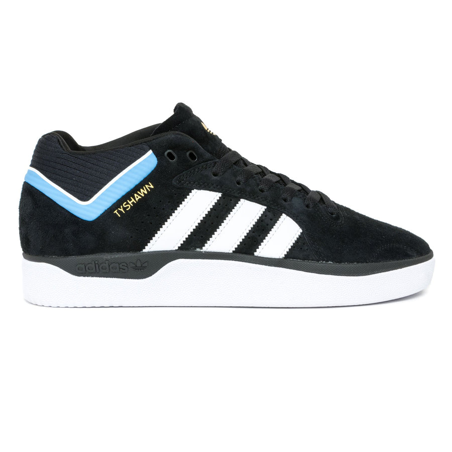 Adidas Tyshawn Shoes - Black/White/Light Blue