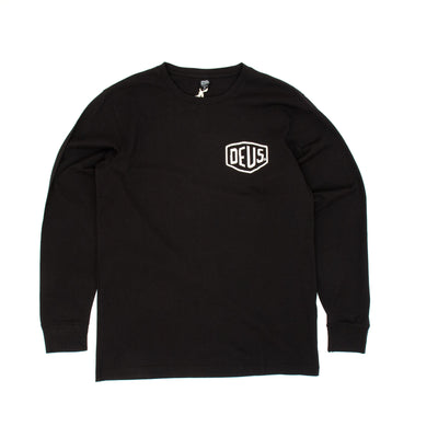 Deus Ex Machina Biarritz Address Longsleeve T-Shirt - Black
