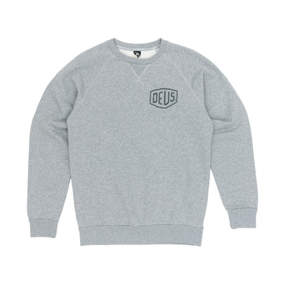 Deus Ex Machina Venice Address Crew Sweatshirt - Grey Marle Front