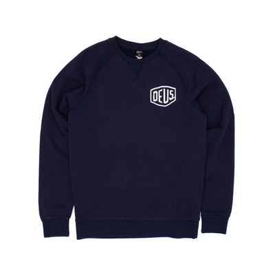 Deus Ex Machina Camperdown Address Crew Sweatshirt - Navy