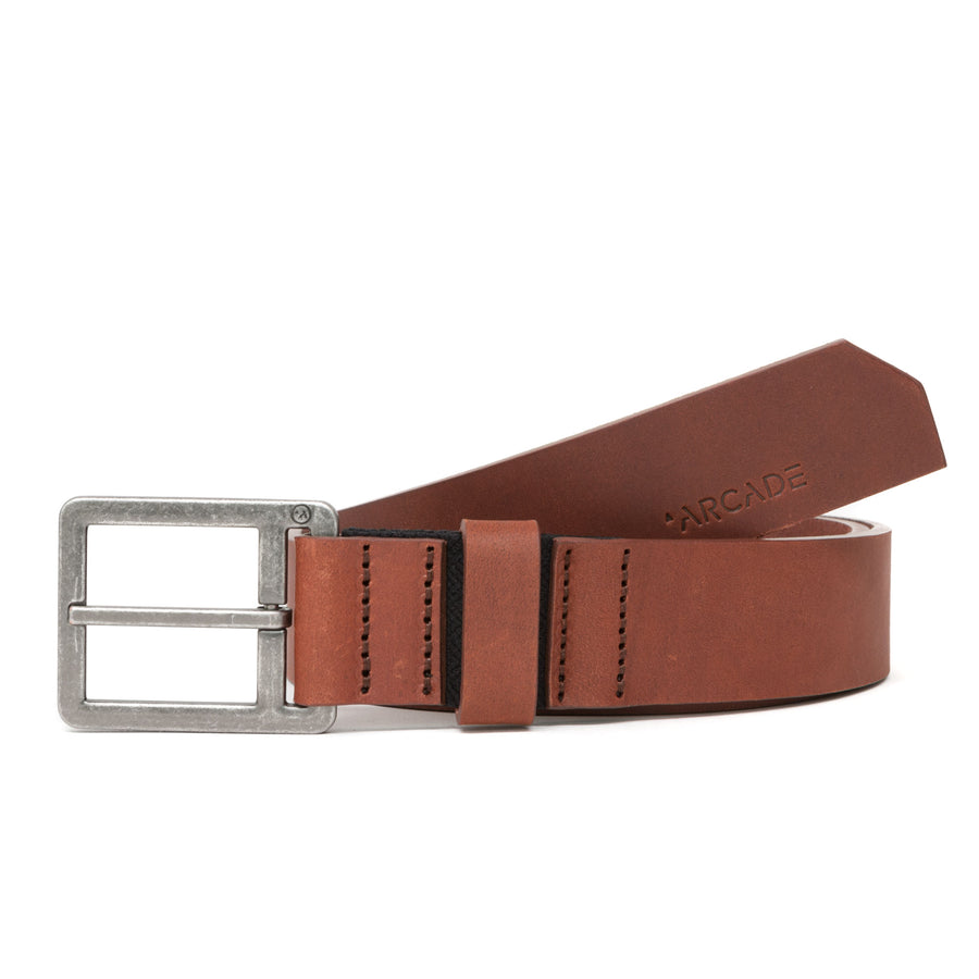Arcade Padre Leather Belt - Brown