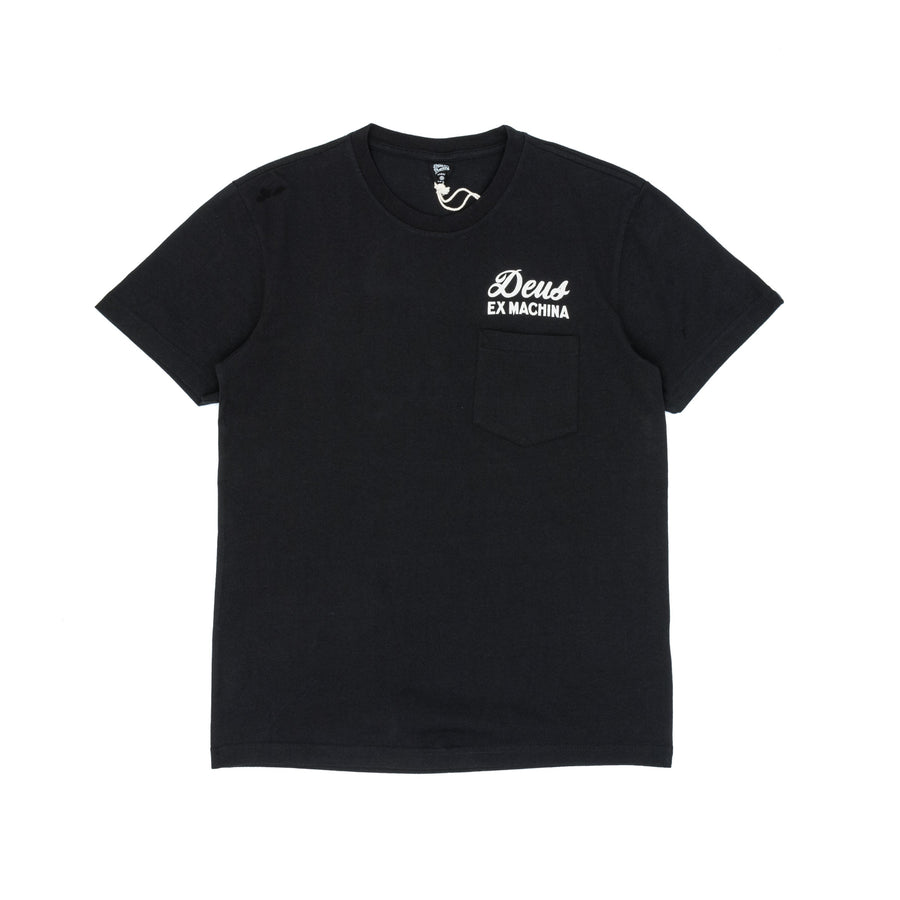 Deus Ex Machina Tokyo Address Pocket T-Shirt - Black