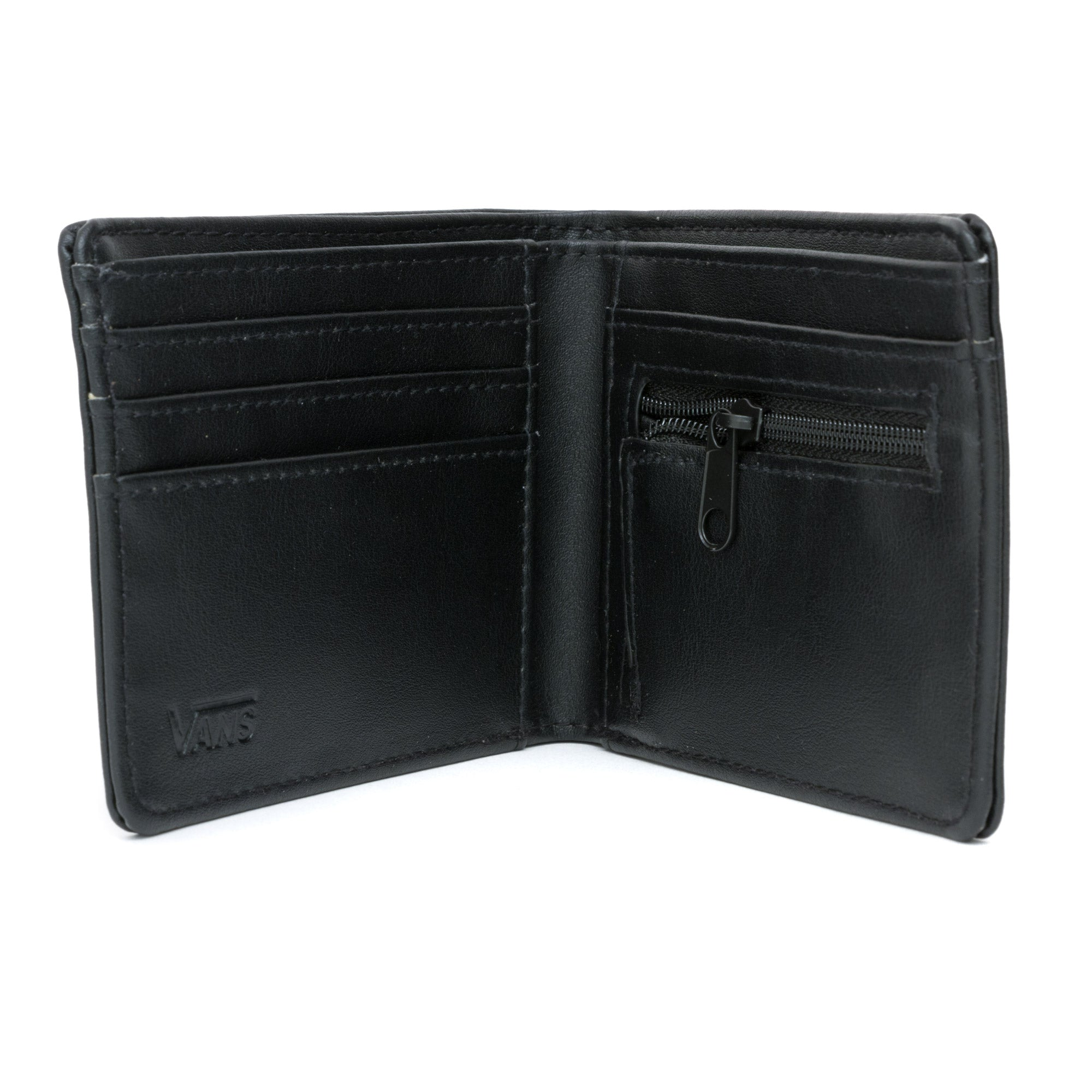 e1a958412724ef Vans Full Patch Bi Fold Wallet - Black Open