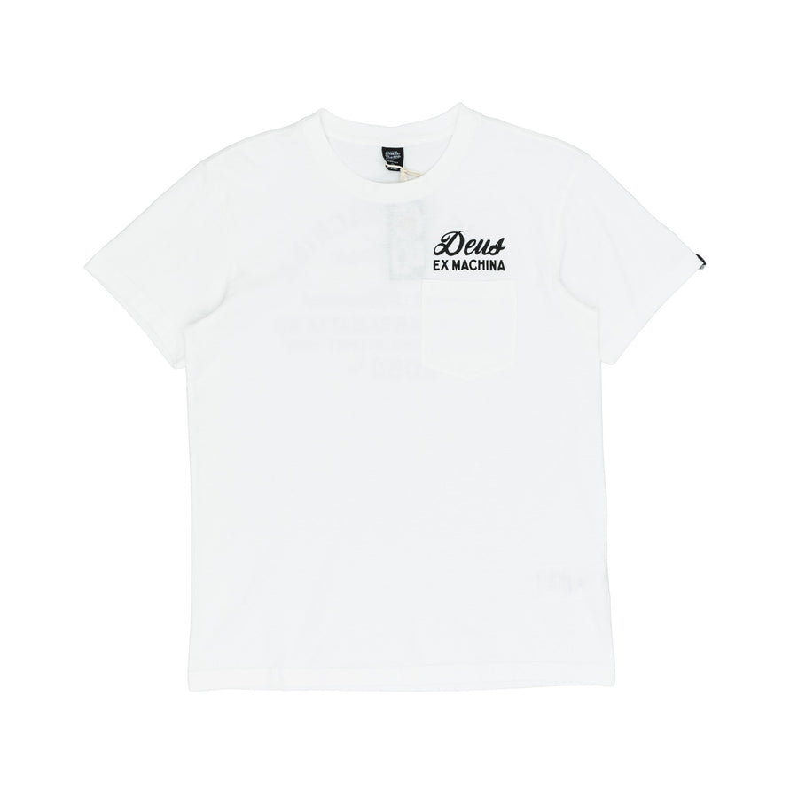 Deus Ex Machina Camperdown Address Pocket T-Shirt - White