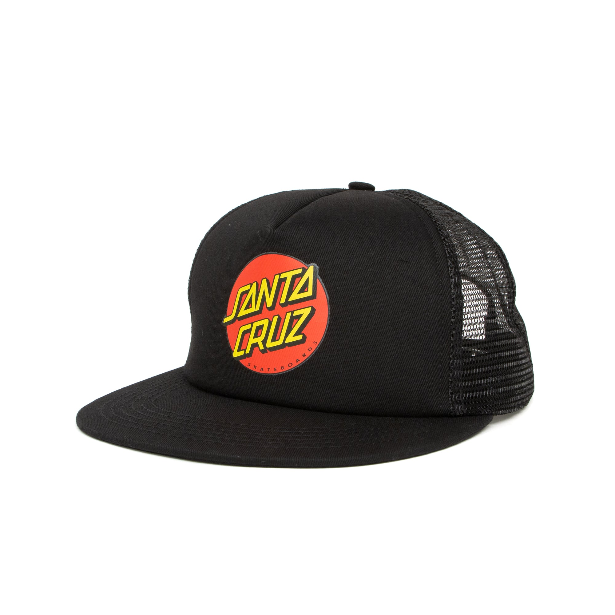 Santa Cruz Classic Dot Mesh Trucker Cap - Black