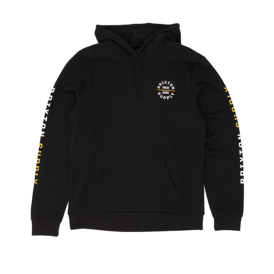 Brixton Oath VI Hooded Sweatshirt - Black/Yellow/White