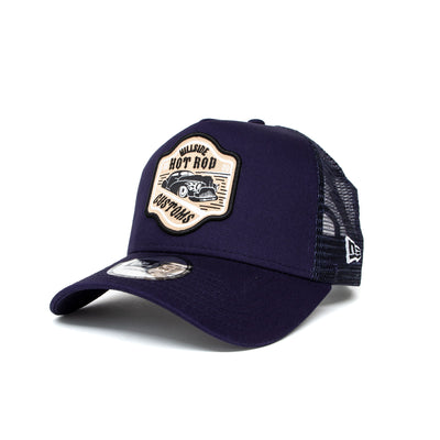 New Era Hot Rod Fabric Patch Trucker Cap - Navy