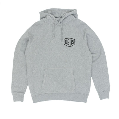 Deus Ex Machina Milano Address Hooded Sweatshirt - Grey Melange