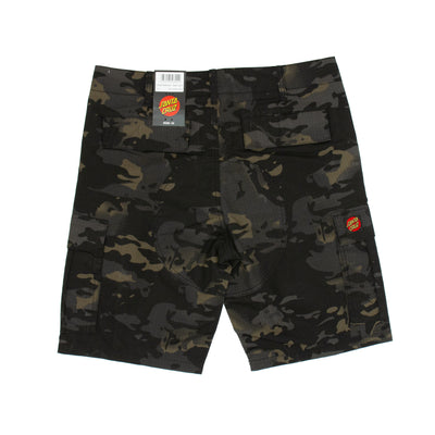 Santa Cruz Defeat Walk Shorts - Black Camo