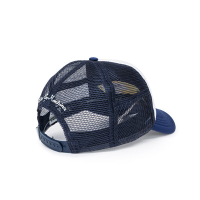 Deus Ex Machina Diamond Trucker Cap - Navy/White Back