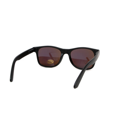 Glassy Eyewear Leonard Sunglasses - Matte Black/Green Mirror